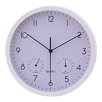 【trv・数量限定】ベゼル 温湿度計付時計 ホワイト