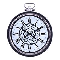 大型掛時計 ギア L BLACK 52cm【別送品】