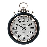 大型掛時計 ギア M BLACK 40cm【別送品】
