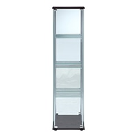 ガラスコレクションケース 4段(背面ミラー付き)