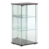 ガラスコレクションケース3段(背面ミラー付き)