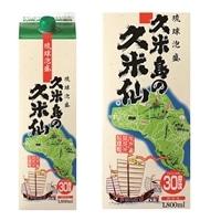 泡盛 久米島の久米仙 30度 1800ml パック【別送品】