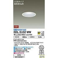 大光 ダウンライト 100Ф 昼白色 DDL-5102WW