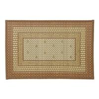 国産い草玄関マット(裏貼り)60×90  エルモード ブラウン