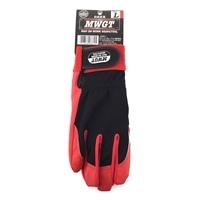 MWGT 合成皮革手袋(レッド) Lサイズ