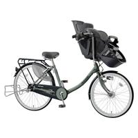 【自転車】《丸石》同乗器付き自転車 3人乗り対応 ふらっか〜ずスティーナ モスグリーン【別送品】