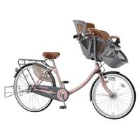 【自転車】《丸石》同乗器付き自転車 3人乗り対応 ふらっか〜ずスティーナ ピンク【別送品】