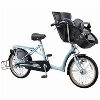 【自転車】《丸石》同乗器付き自転車 ふらっか〜ずシュシュ ブルー【別送品】