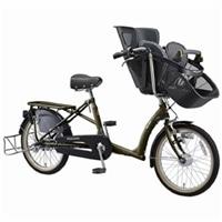 【自転車】《丸石》同乗器付き自転車 ふらっか〜ずシュシュ オリーブ【別送品】