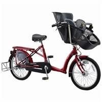 【自転車】《丸石》同乗器付き自転車 ふらっか〜ずシュシュ レッド【別送品】