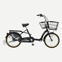 【自転車】《丸石》同乗器対応自転車 ふらっか〜ずキュートミニ 内装3段 LEDオートライト 20インチ ミッキー【別送品】
