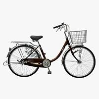 【自転車】【全国配送】≪丸石サイクル≫軽快車コンサイス内3-HD 24インチ ブラウン【別送品】