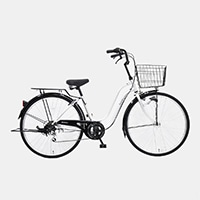 【自転車】《丸石サイクル》軽快車 26インチ メナム シルバー