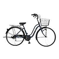 【自転車】《丸石サイクル》軽快車 26インチ メナム ブルー