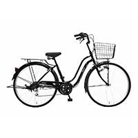 【自転車】《丸石サイクル》軽快車 26インチ メナム ブラック