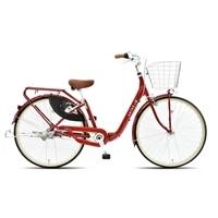 【自転車】《丸石サイクル》フリーパワーサラダS 26型 内装3段 S496 レッド