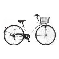 【自転車】《丸石サイクル》ルイードシティ 27型 外装6段 W496 ホワイト