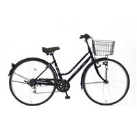 【自転車】《丸石サイクル》ルイードシティ 27型 外装6段 W497 ネイビー