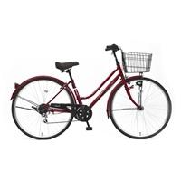【自転車】《丸石サイクル》ルイードシティ 27型 外装6段 W498 ルージュ