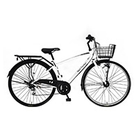 【自転車】《丸石サイクル》ブラックパンサー 27型・外装6段 耐摩耗タイヤ W823 ホワイト
