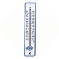 シンワ プラスチック 寒暖計 20cm 青