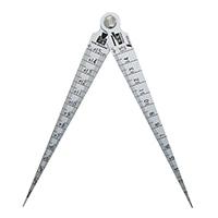 テーパーゲージ ダブル 1〜15mm 隙間・穴径・長さ測定目盛付