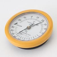 シンワ 温湿度計 丸型 6.5cmホワイトU−3
