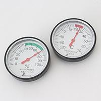 シンワ 温度計・湿度計セット丸型4.5cmST−4