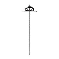 丸ノコガイド定規 Tスライド  II90cm 併用目盛 突き当て可動式