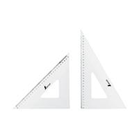 三角定規 アクリル製 30cm 2枚組