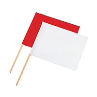 旗 工事用 布製2本組 小