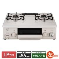 パロマ ガステーブル LP(プロパン)ガス用 IC-S37SH-L 左強火 片面水無し【別送品】