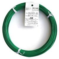 カラー針金 #14X62M ミドリ(1Kg)