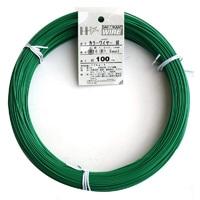 カラー針金 #16×100m ミドリ(1kg)