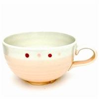 スープカップ 塗分ドット ピンク