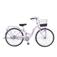【自転車】《玉越工業》パステルチャーム 22インチ オートライト ピンク