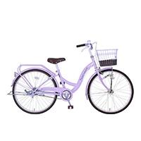 【自転車】《玉越工業》パステルチャーム 22インチ オートライト パープル