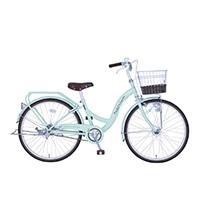 【自転車】《玉越工業》パステルチャーム 22インチ オートライト グリーン