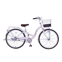 【自転車】《玉越工業》パステルチャーム 24インチ オートライト ピンク