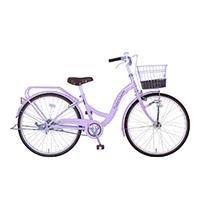 【自転車】《玉越工業》パステルチャーム 24インチ オートライト パープル