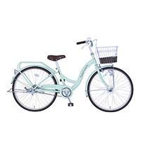【自転車】《玉越工業》パステルチャーム 24インチ オートライト グリーン