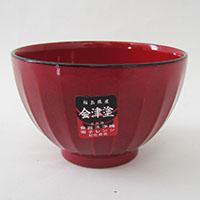 食洗レンジ対応 しのぎ汁椀(赤玉)
