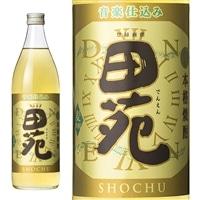 田苑 金ラベル 麦 25度 瓶 900ml【別送品】