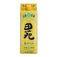 田苑 金ラベル 麦 20度 900ml【別送品】