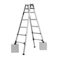 アルインコ 脚伸縮式はしご兼用脚立 6段 PRW180FX