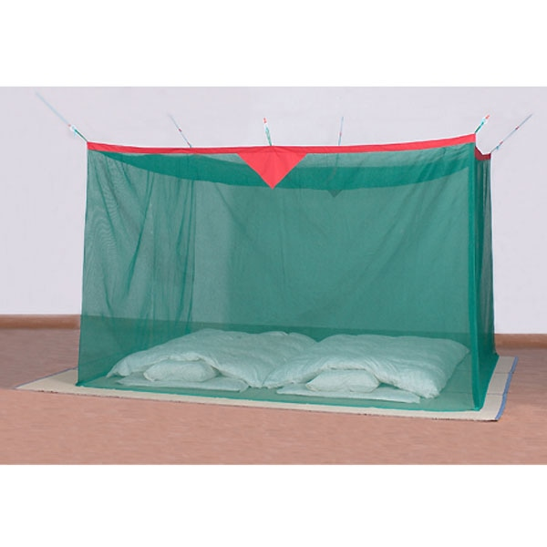 綿麻蚊帳 グリーン 4.5畳用【別送品】