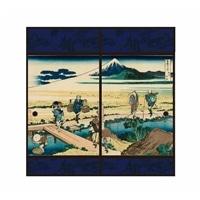 浮世絵襖紙 相州仲原 91×180 2枚