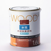 WOOD 水性木部保護塗料 1.6L マホガニー