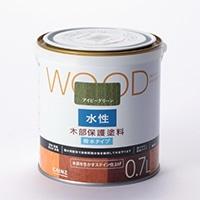 WOOD 水性木部保護塗料 0.7L アイビーグリーン