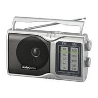 オーム電機 AudioComm AM/FMポータブルラジオ RAD-T208S 03-0961